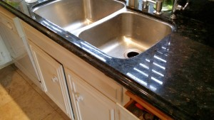 Granite Crack Repair and Clean and Seal
